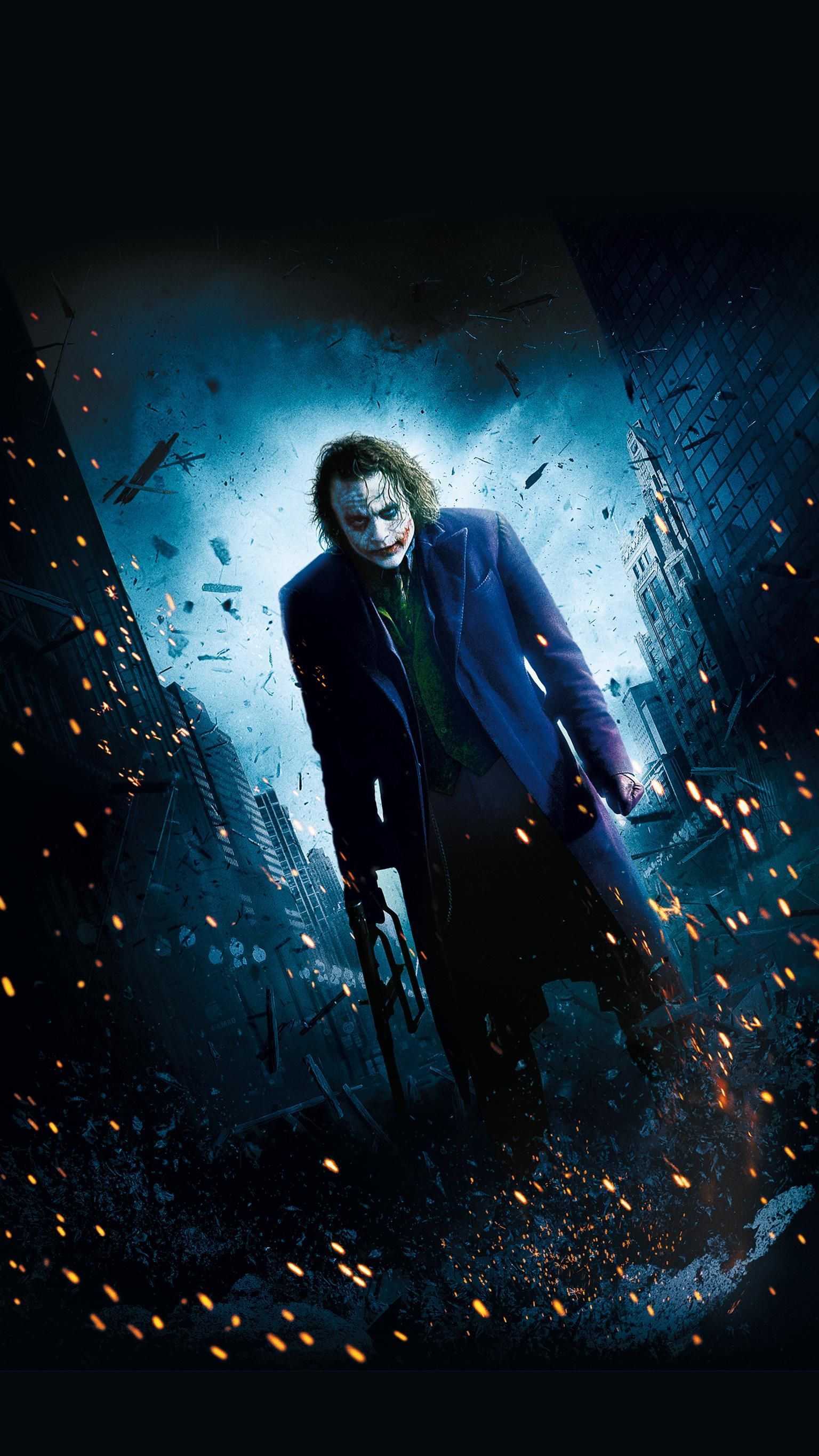 The Dark Knight (2008) Phone Wallpaper Joker images