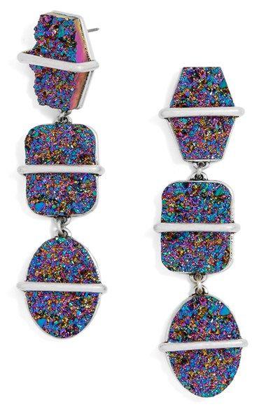 Drusy Drop Earrings
