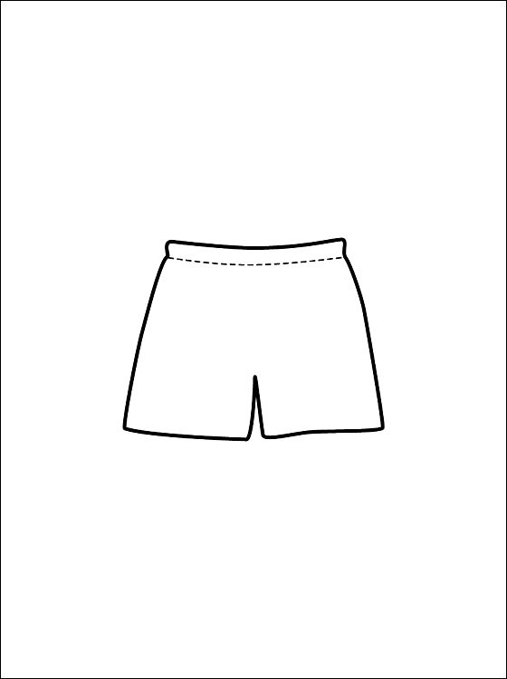 Kleding Meisje Kleurplaat Print Kleurplaat Boxershort Gratis Kleurplaten Kleding