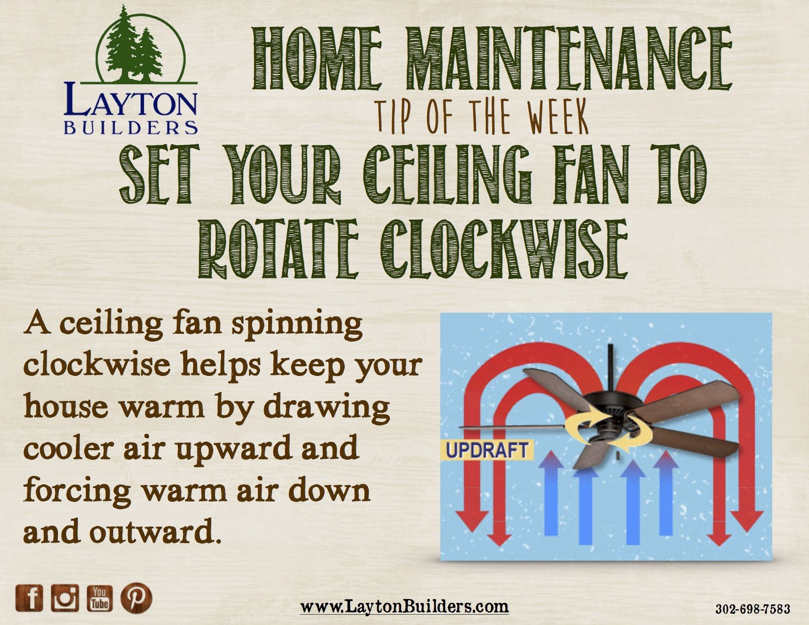 Home Maintenance Tip Of The Week From Layton Builders Home