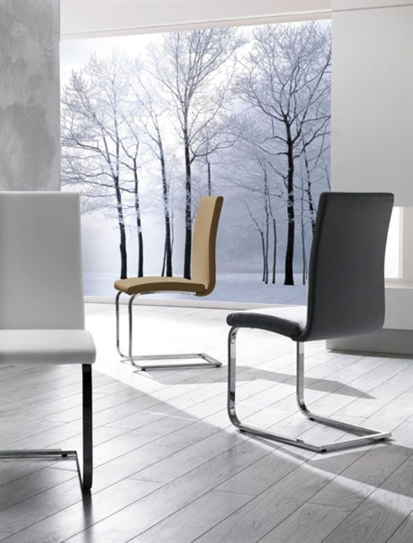 Sedia di design in ecopelle e metallo Luna | Design, Sedie ...