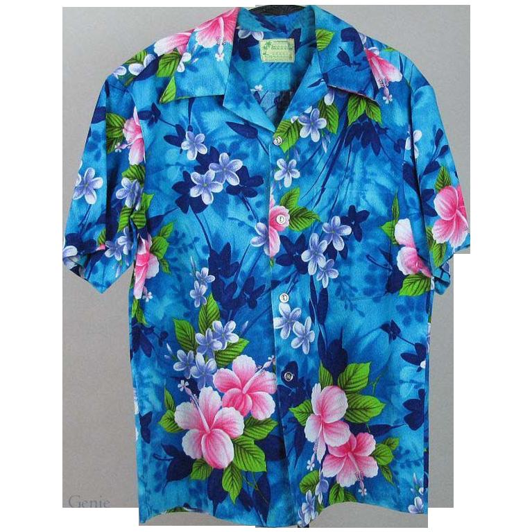 7c3ae70d 1960's Men's Cotton Hawaiian Shirt With Ui Maikai Label | VFG ...