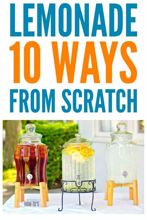 Lemonade From Scratch and 10 Flavor Variations » Housewife How-Tos