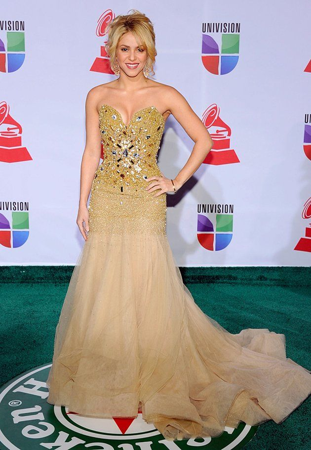 Shakira - glitzy bustier gown - Latin Grammy awards | Red Carpet ...