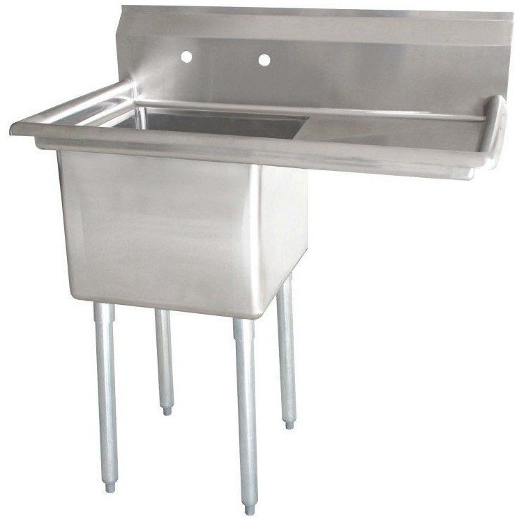 Stainless Steel 1 Compartment Sink 38 1 2 Commercial Kitchen Sinks Stainless Steel Sinks Sink