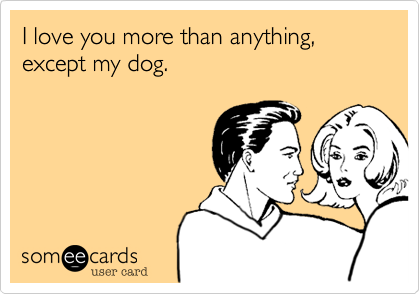 I Love You More Than Anything Except My Dog This Is So True Fur