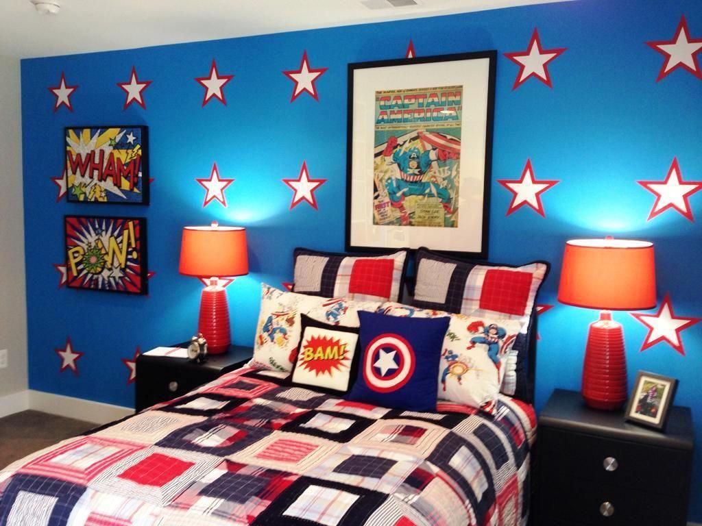 decor room home diy toddler hero slang of boys fresh paint super full kids size bedroom spanish ideas superhero in flash