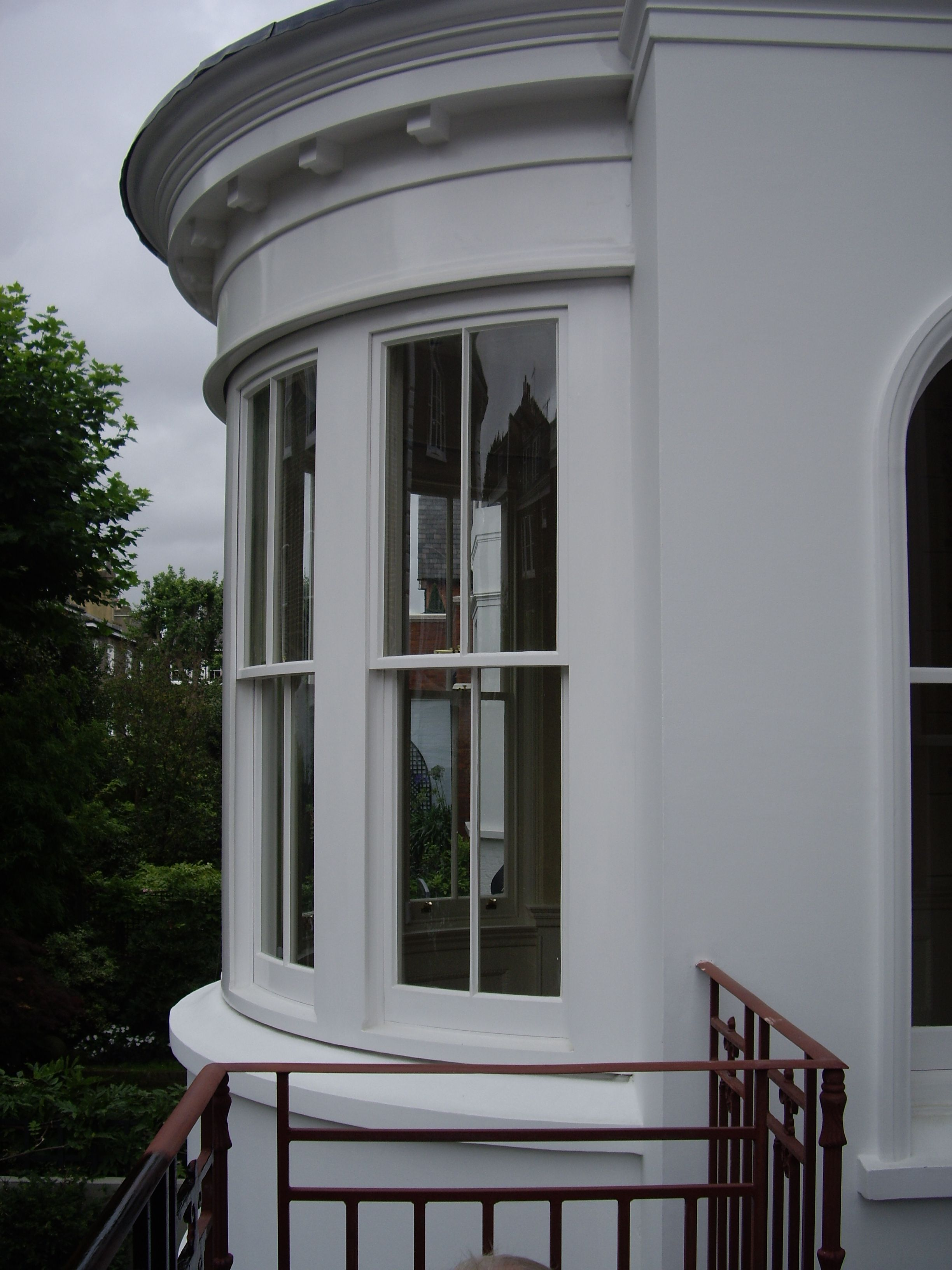 Curved bay sash windows exterior pinterest sash for Curved bay window