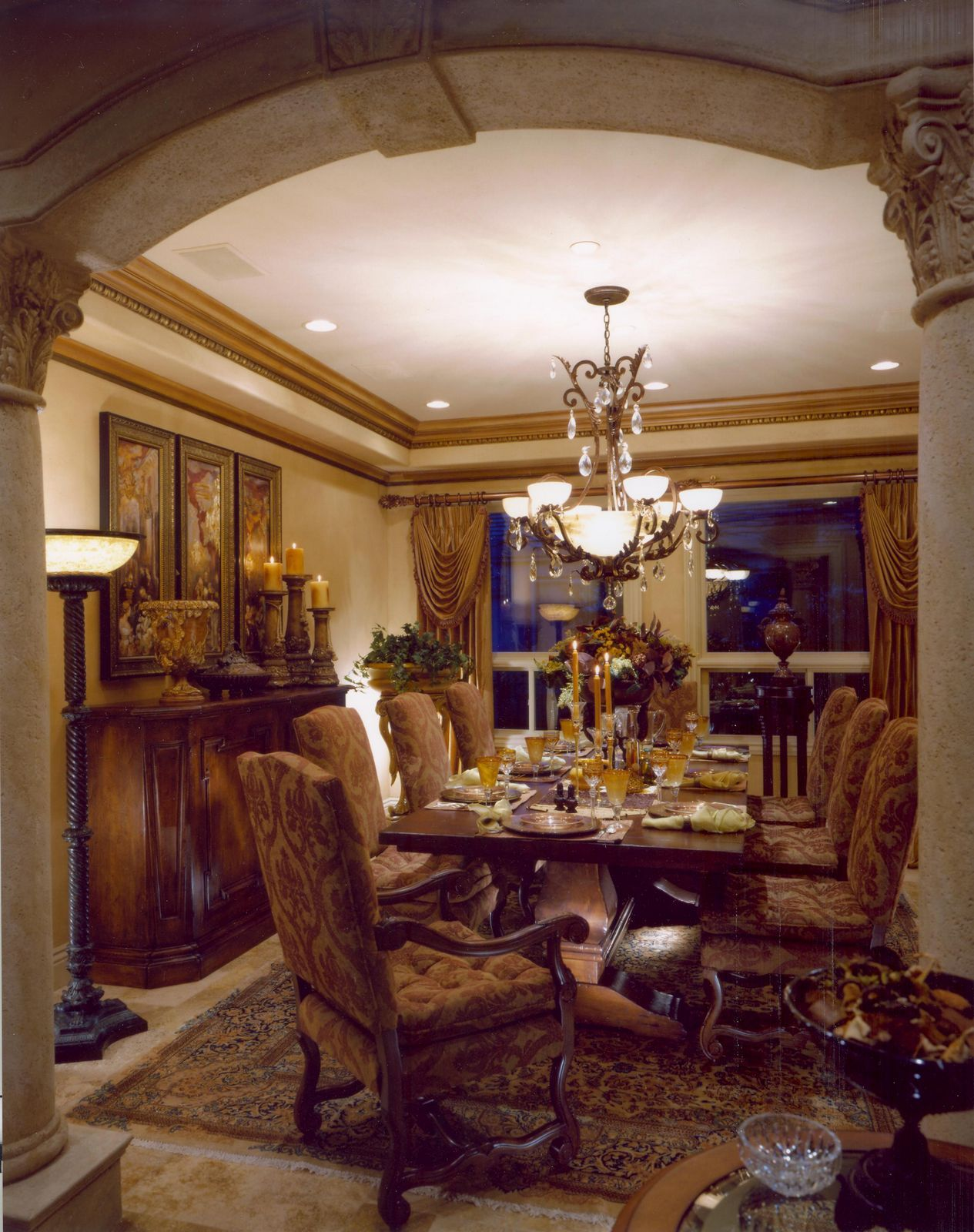 Rustic Elegant Tuscan Dining Room Tuscan Dining Rooms Dining