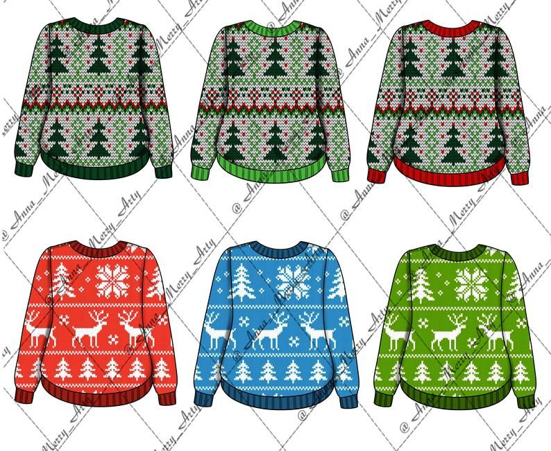 21 Christmas Sweaters Png Clipart Jacket Clipart New Year Etsy Christmas Sweaters Clip Art Things To Sell