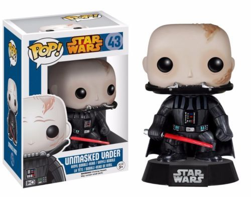 Star Wars Darth Vader Unmasked Pop! Vinyl Figure! Check out the other Star Wars figures from Funko! Stands 3 3/4 inches. Collect them all! #funko #funkopop #popvinyl #toy #toyfigure #starwars
