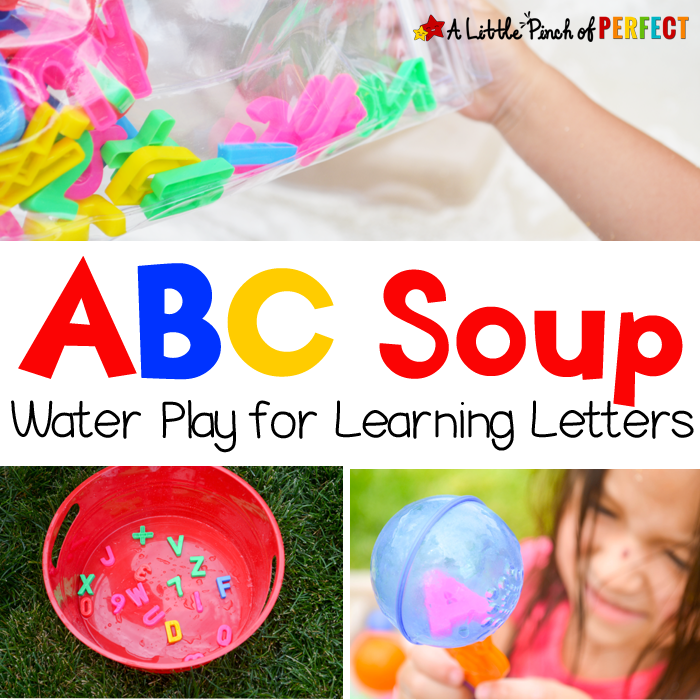 Today we have a ton of water play activities to share with you so grab a towel and join in the fun! First up, we are presenting ABC Soup, then we are sharing 8 more awesome water play and pirate activities that we love! My kiddos loved playing ABC Soup. We filled up our pirate …