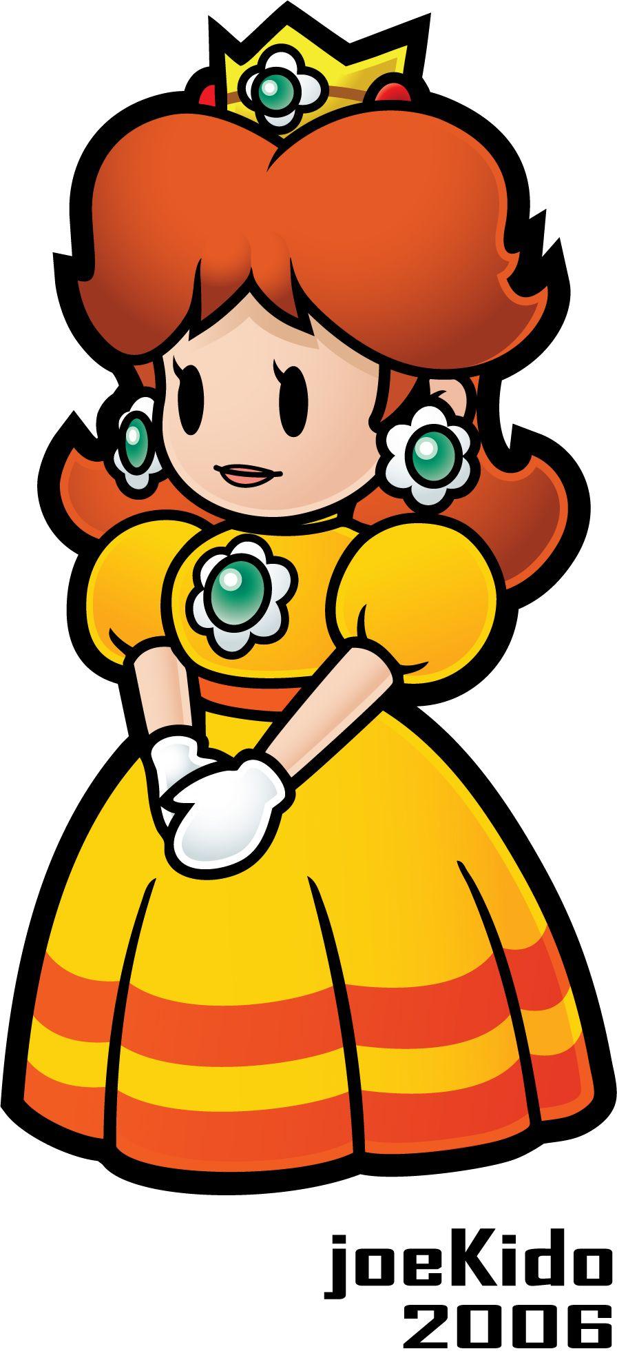 Paper Princess Daisy | Super Mario | Pinterest | Mario, Videojuegos ...