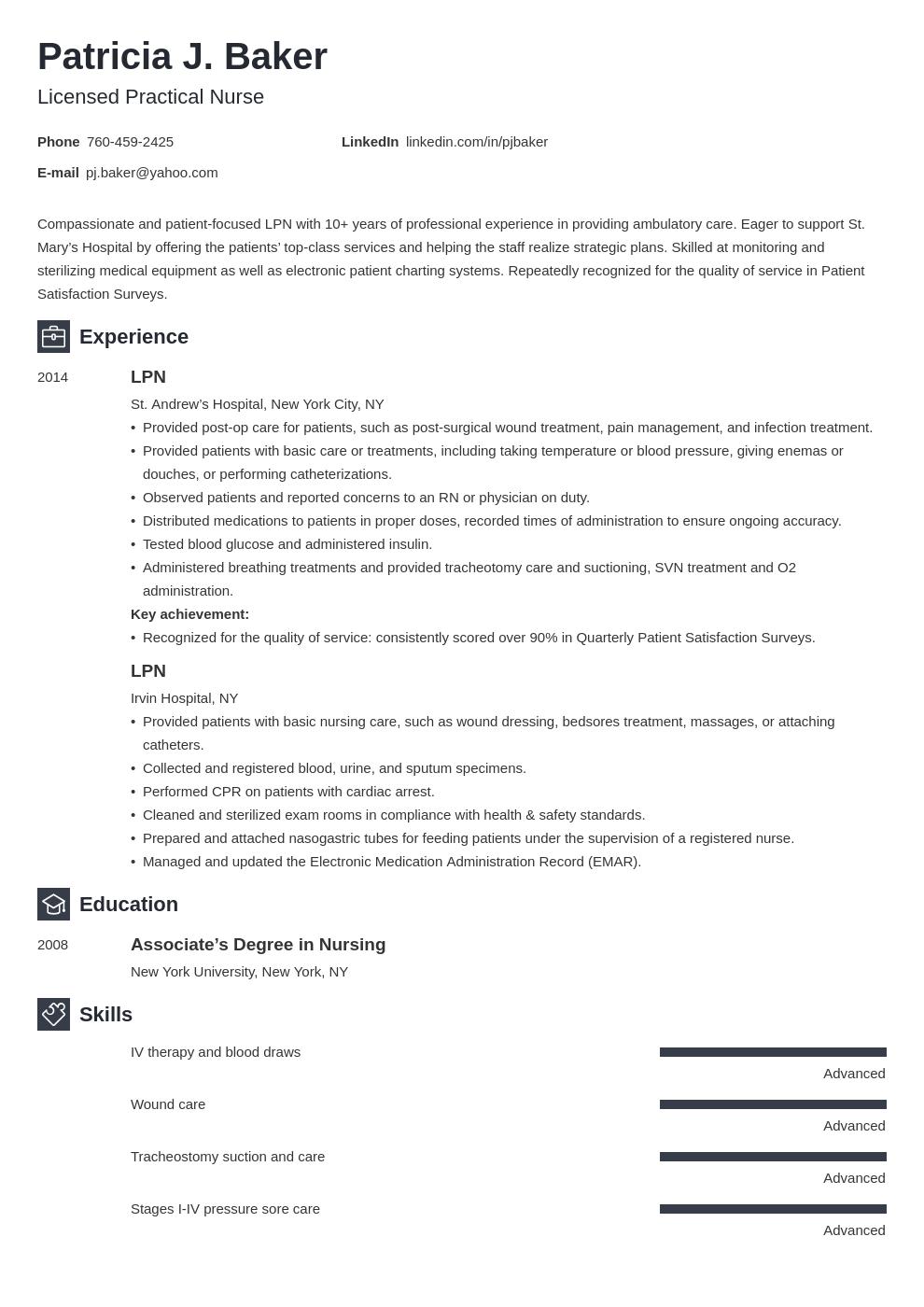 Lpn Resume Example Template Newcast Lpn Resume Nursing Resume Examples Resume Examples