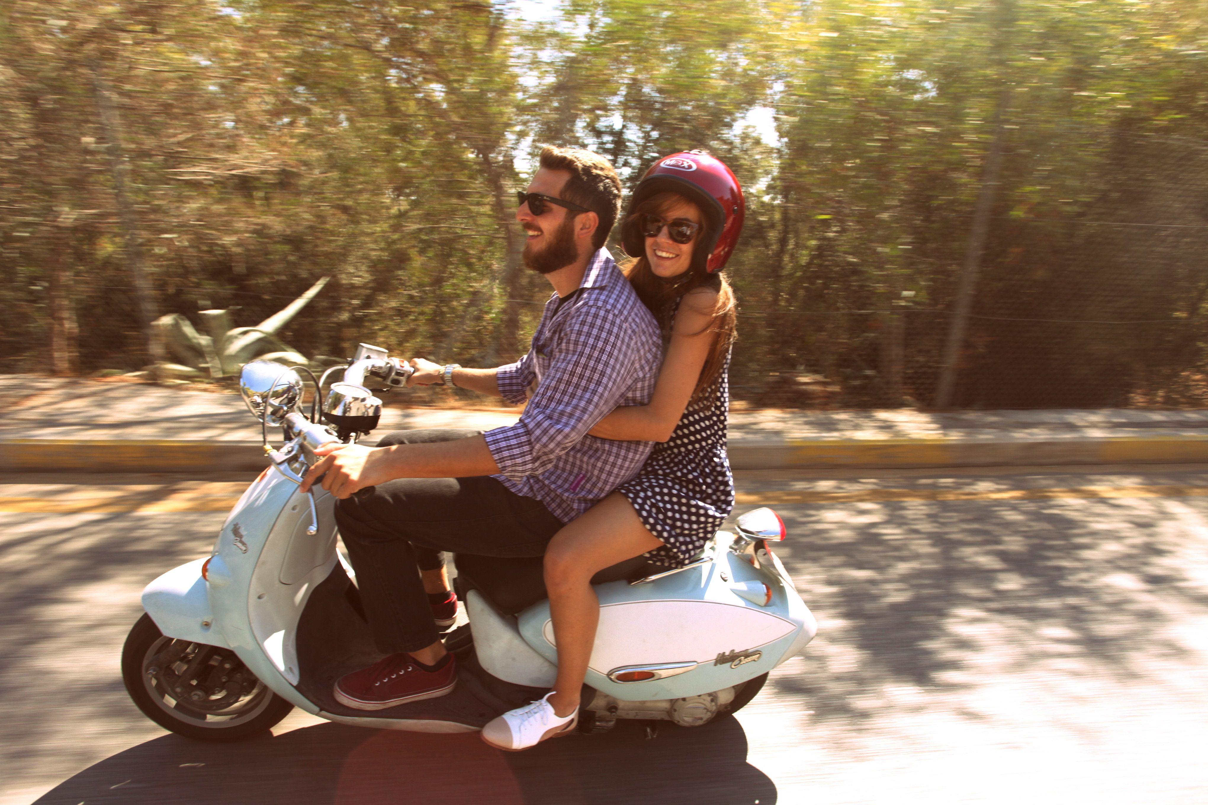 Athens dgr 2013 riding moped