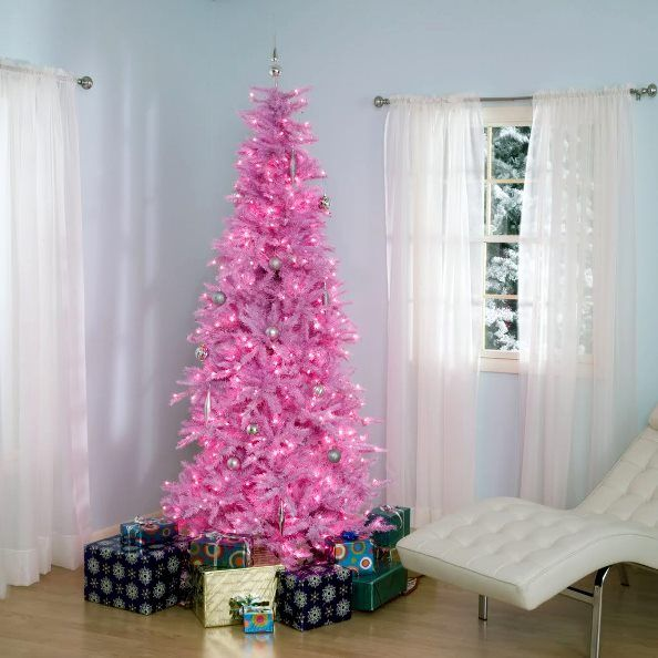 Pink Christmas Trees, Colored Christmas Trees, Real Christmas Trees ...