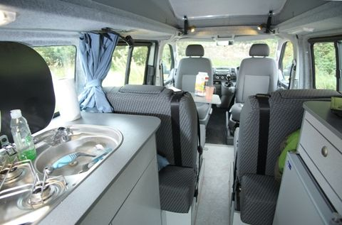 Jerba Sanna Campervan Interior The Is A Quality Van Conversion Offering Plenty Of Storage
