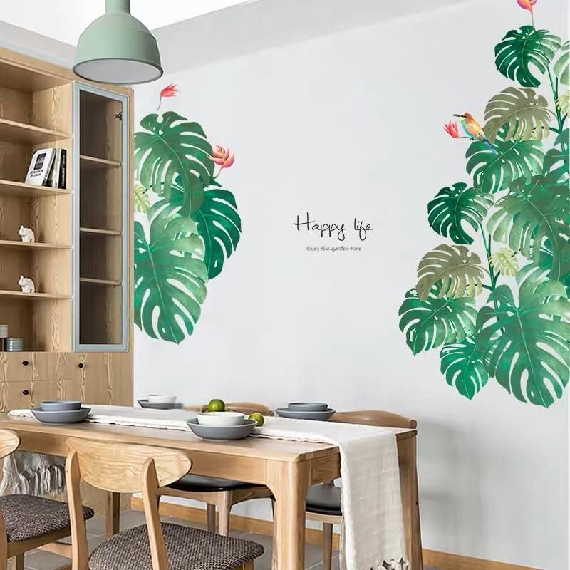 tropical leaves wall decals in 2020 interior paint on wall stickers for living room id=86803