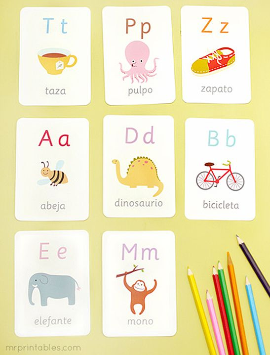 spanish alphabet flash cards mr printables kindergarten pinterest spanish alphabet. Black Bedroom Furniture Sets. Home Design Ideas
