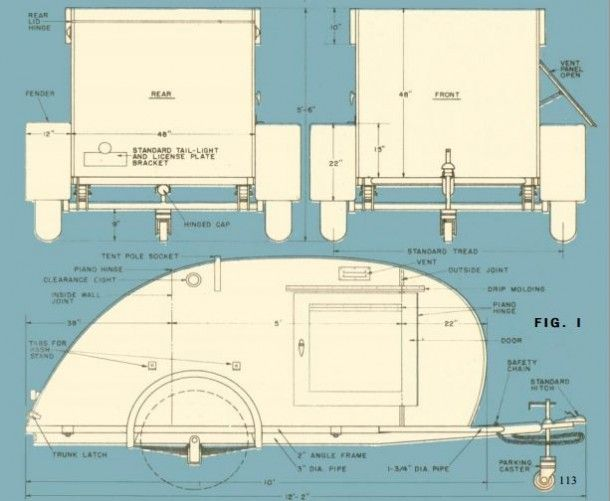 How To Build A Teardrop Trailer For Two Planstravel Floor