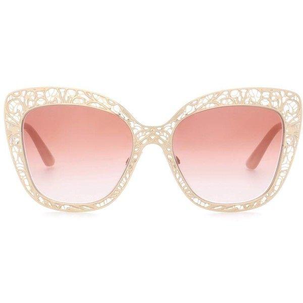 Dolce & Gabbana Denim Oversized sonnenbrille Mit Cat eye