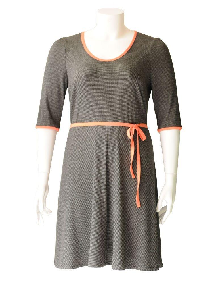 98dca25c321 Chiba grå plus size jersey kjole | www.amamiko.dk plussize clothing ...