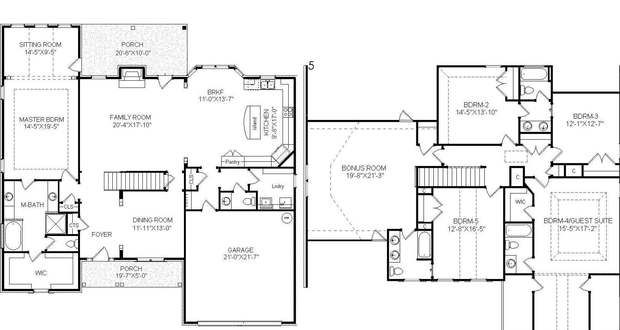 Two story house plans with master suite on main floor for House plans with two master suites on main floor