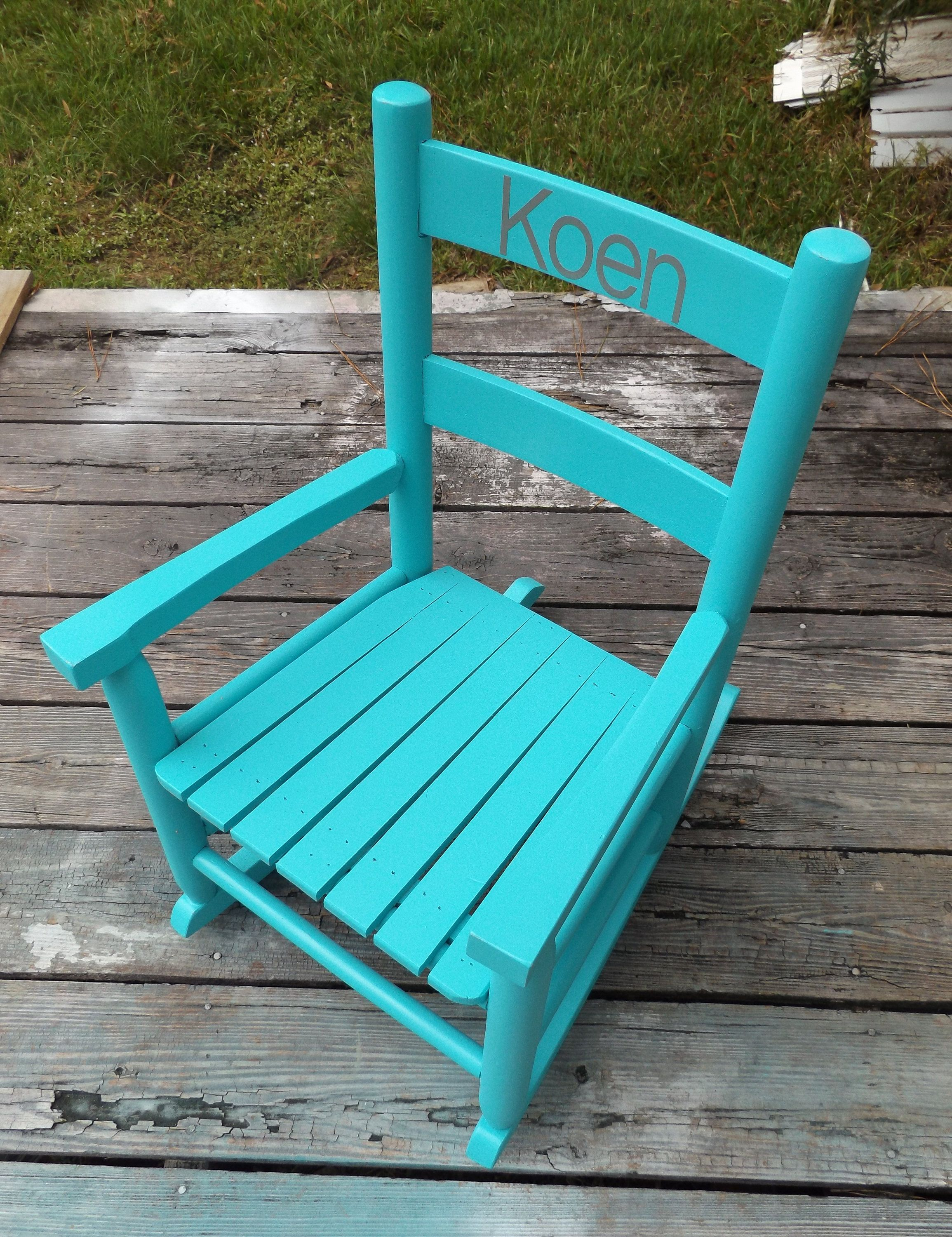 Kids rocking chair toddler chair personalized rocking chair