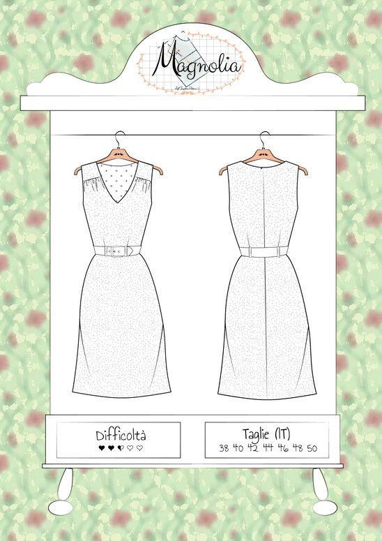 Robe Magnolia : le patron gratuit d\'Atelier Vicolo nº6 | Patrones de ...