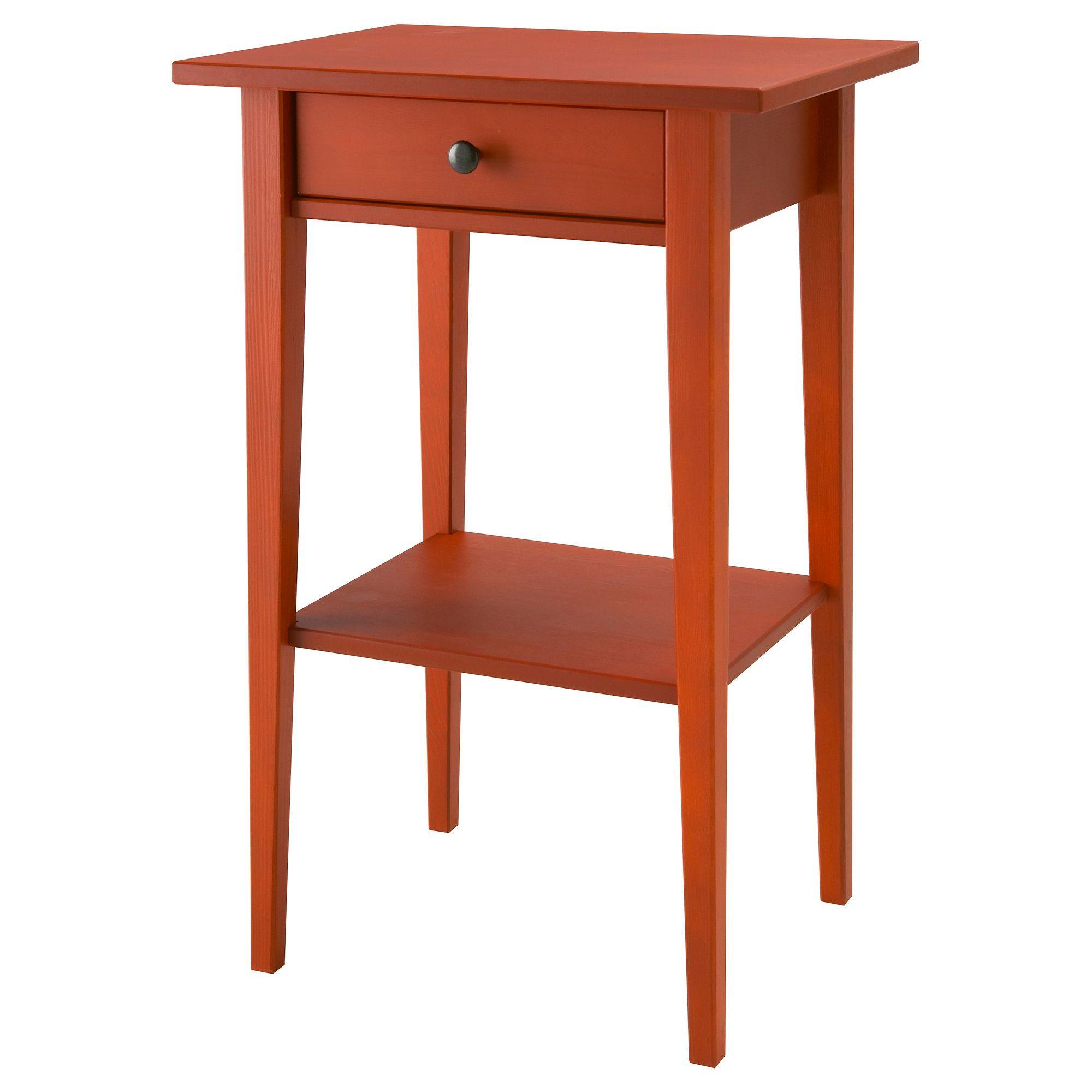 Hemnes Table De Chevet Rouge Ikea Home