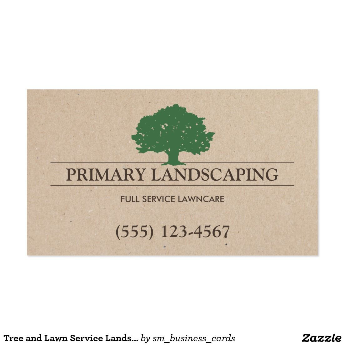 Tree and Lawn Service Landscaping Business Card - classic design ...