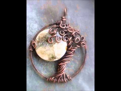 Video of all Vixen's Natural Jewelry Tree of Life with Moons, pretty to see - links to Etsy.