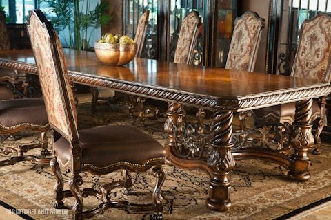 Marge Carson Dining Table With Images Antique Dining Tables