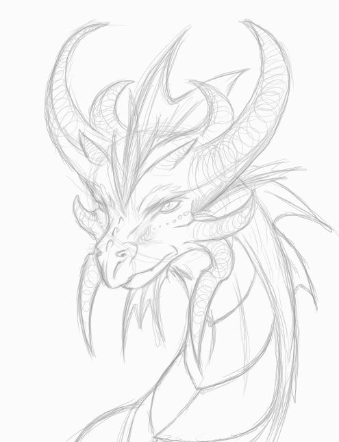 dragon head drawing - Google Search | Painting inspiration