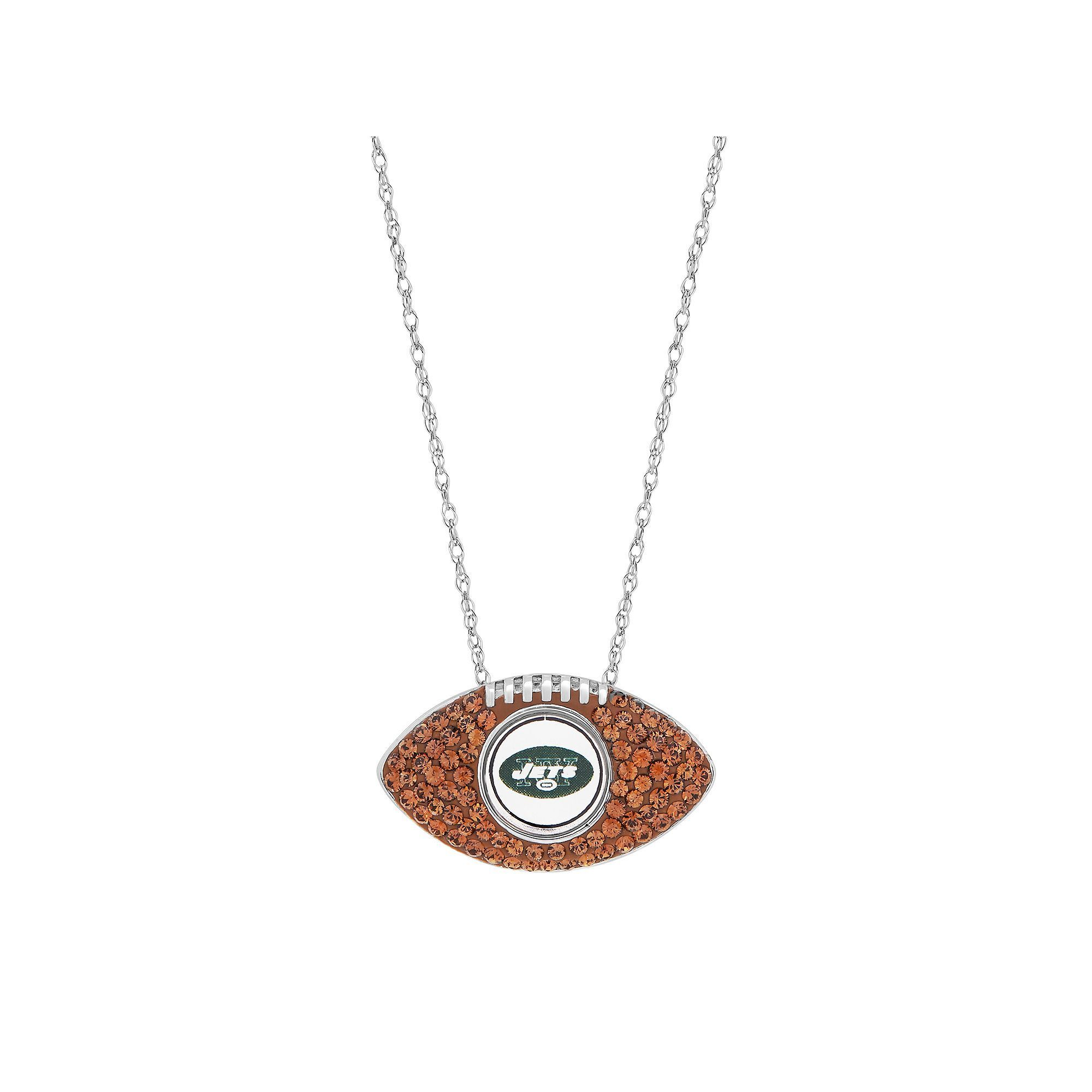 over necklace football overlay orders free finesque gold overstock white on watches product pendant jewelry diamond shipping accent