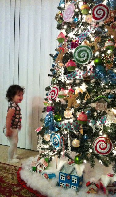 Arbol De Navidad Decorado Con Dulces