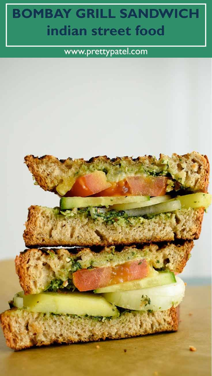 Bombay grilled sandwich indian street food recipe grilled bombay grilled sandwich indian street food forumfinder Choice Image