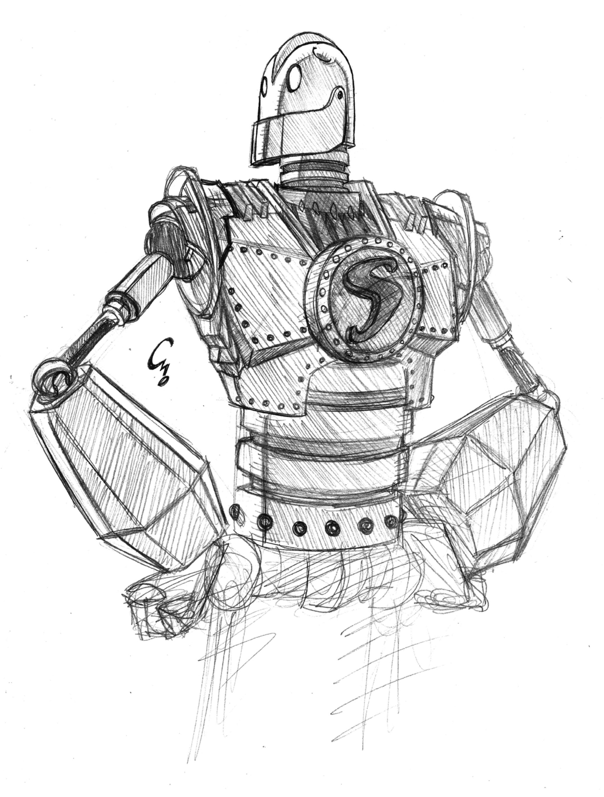 Iron Giant Sketch By Electrocereal The Iron Giant Iron Sketches