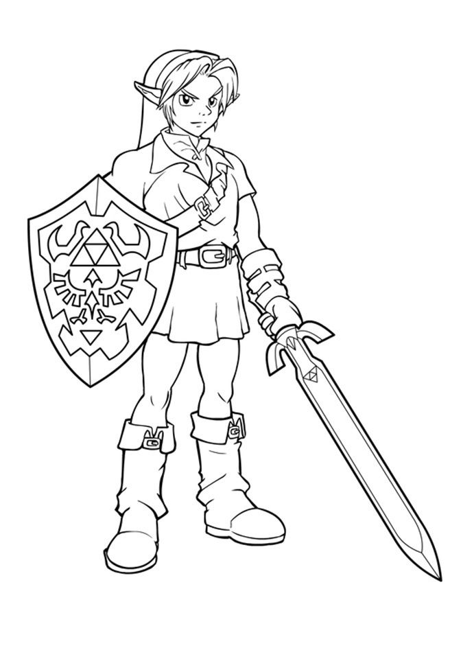 link coloring pages zelda free printable zelda coloring pages for kids - Zelda Coloring Pages