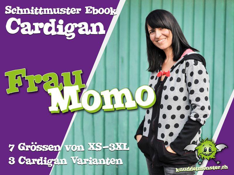 Oberteile & Jacken - Cardigan Frau Momo - Schnittmuster EBOOK - ein Designerstück von knuddelmonster-ch bei DaWanda