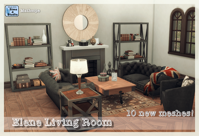 Sims 4 CC\'s - The Best: Elene Living Room Set by Mathcope ...