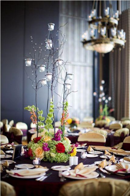 Ideas de centros de mesa para bodas modernos flowers for Centro de mesa modernos