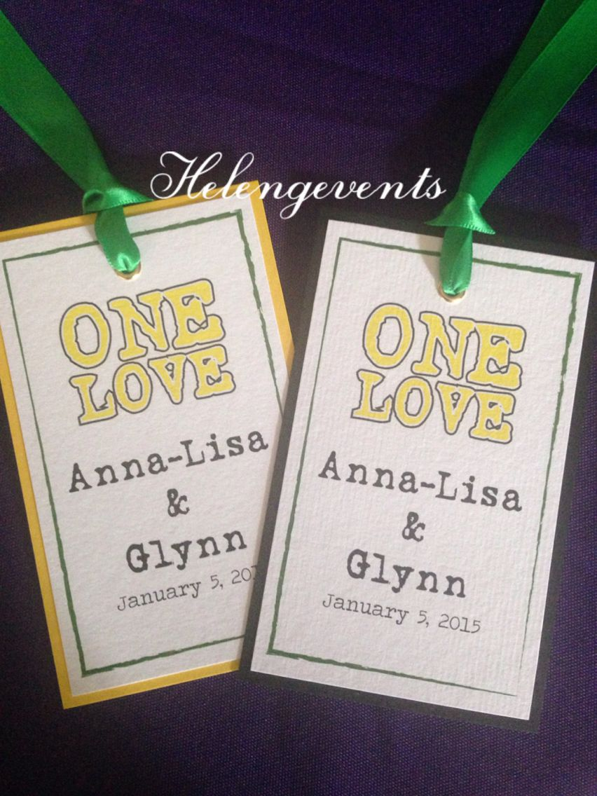Tags for our welcome bags and baskets from Helen G Events ...