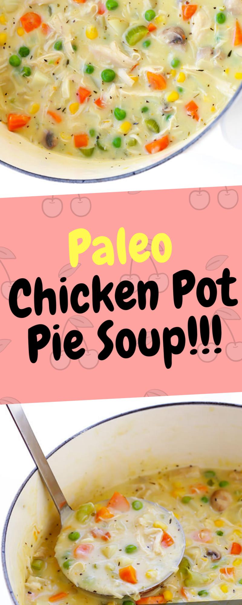 Paleo Chicken Pot Pie Soup Chicken pot pie soup, Paleo