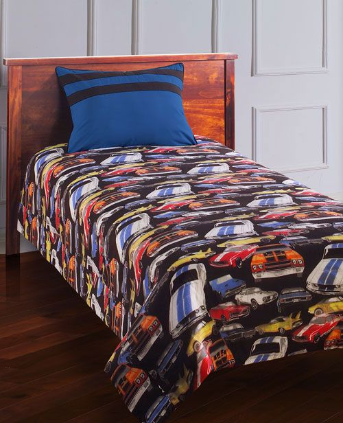 Bedroom Decor Nz Boy Bedroom Cars Brown Leather Bed Bedroom Ideas Small 1 Bedroom Apartment Floor Plans: Muscle Cars Duvet, My Boy Would Love This