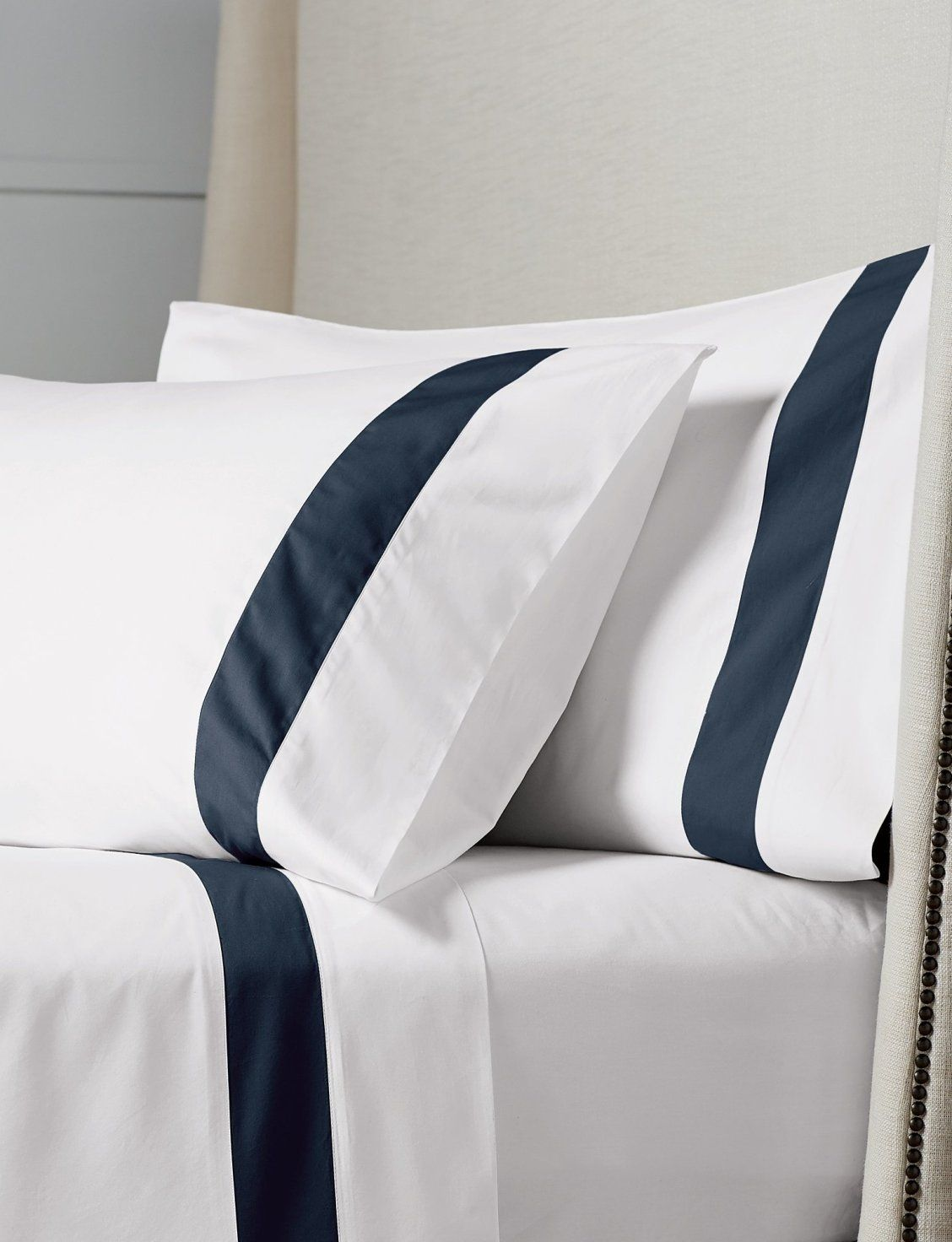 Resort Border Frame Egyptian Cotton Percale Sheet Set Frontgate In 2021 Hotel Bedding Sets Bed Linen Design Hotel Linen 100 egyptian cotton percale sheets