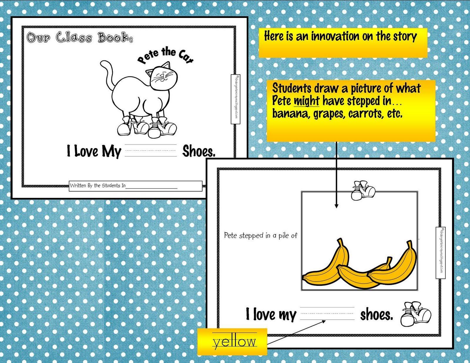Kindergarten Crayons Pete Class Book