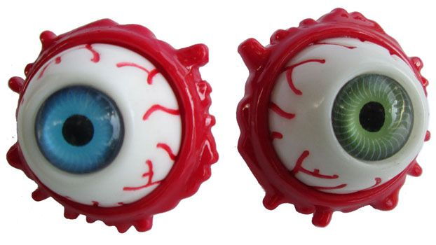 NEW - Eyeball Brooch by Kreepsville 666 - choose green or blue #ayp #igotmyeyeonyou #kreepsville666