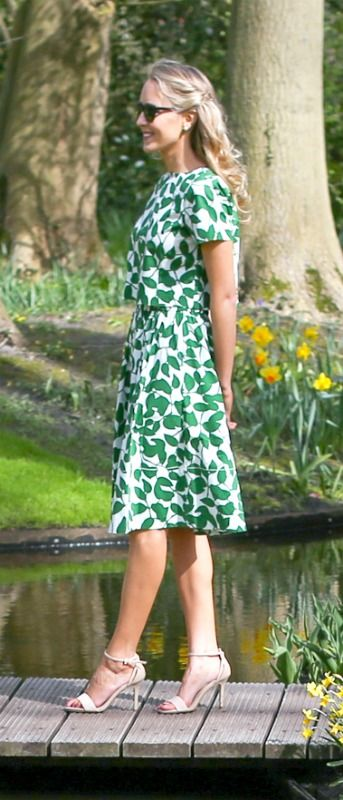 cce7c6404e kelly green kate spade garden leaves matching short sleve crop top and  flare midi skirt styled with dune london nude madeira ankle strap mid-heel  sandals in ...