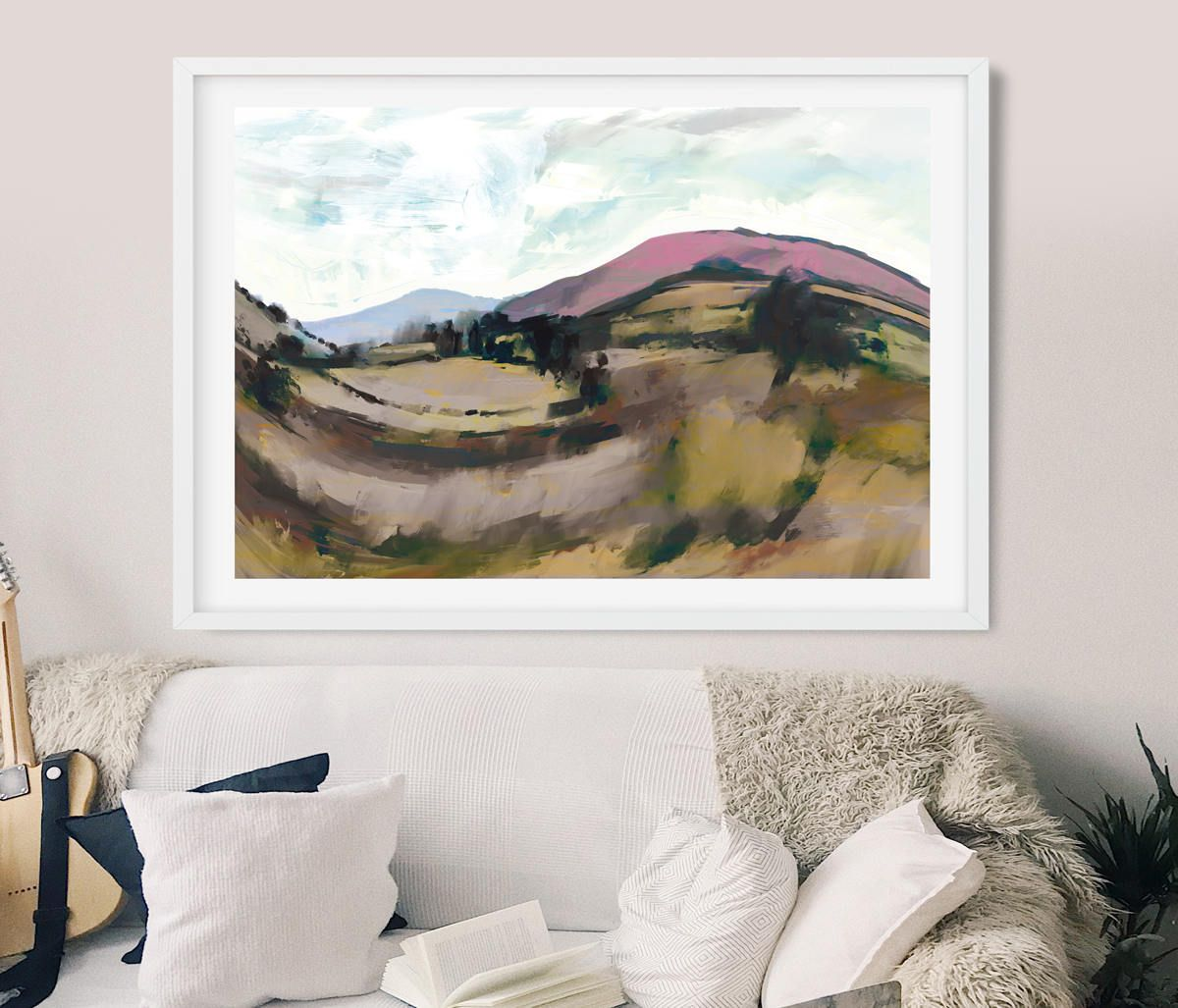 Abstract Landscape Painting Instant Download Art Dartmoor View England Landscape Large Wall Art By Artist Dan Hobday Light Gold Colours Abstract Landscape Painting Landscape Paintings Abstract Landscape